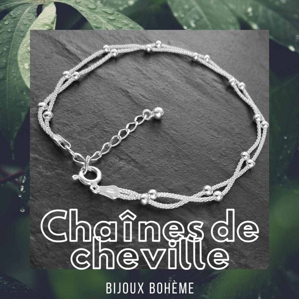 chaîne de cheville en argent 925 bijoux bohème