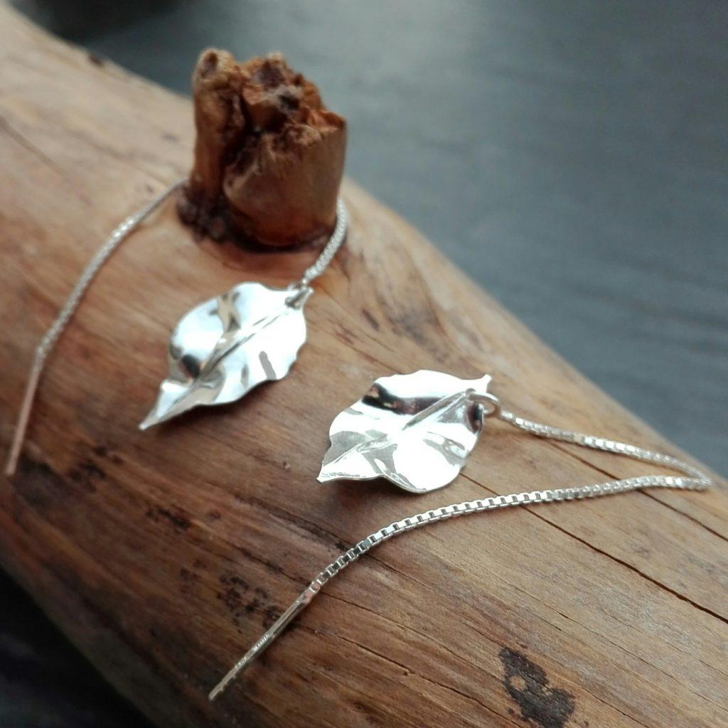 boucles d'oreilles chaînes traversantes - Bijoux Bohème #BijouxBohemeShop